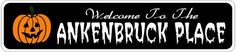 ANKENBRUCK PLACE Lastname Halloween Sign - Welcome to Scary Decor, Autumn, Aluminum - 4 x 18 Inches by The Lizton Sign Shop. $12.99. Great Gift Idea. 4 x 18 Inches. Rounded Corners. Aluminum Brand New Sign. Predrillied for Hanging. ANKENBRUCK PLACE Lastname Halloween Sign - Welcome to Scary Decor, Autumn, Aluminum 4 x 18 Inches - Aluminum personalized brand new sign for your Autumn and Halloween Decor. Made of aluminum and high quality lettering and graphics. Made to last for y...