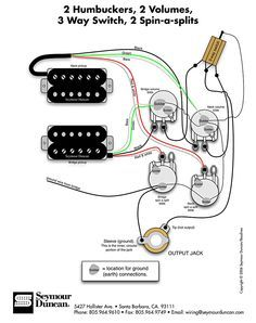 Wiring Diagram for 2 humbuckers 2 tone 2 volume 3 way