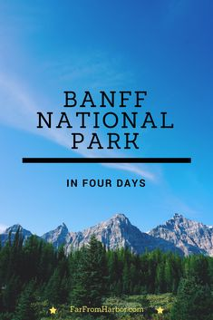 Four Days in Banff National Park. #hike #banff #banffnationalpark #larchvalley #lakemoraine #lakelouise