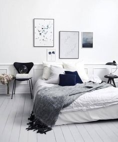5 Victorious Clever Ideas: Minimalist Living Room Black Pillows minimalist home plans living rooms.Minimalist Living Room Black Pillows minimalist bedroom decor tips. Scandinavian Bedroom, Scandinavian Interior Design, Home Interior Design, Scandinavian Style, Nordic Bedroom, Nordic Style, Minimalist Scandinavian, Contemporary Interior, Cosy Bedroom
