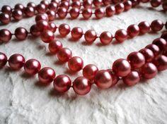 ❤ SALG ! ❤  Vintage Perlekjede (Ord. pris 129 Retro Vintage, Beaded Bracelets, Jewelry, Fashion, Pink, Moda, Jewlery, Jewerly, Fashion Styles