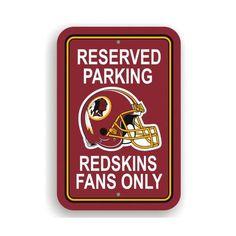 NeoPlex NFL Parking Sign NFL  Washington Redskins 9b284068c