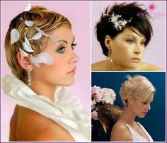 Fotografi: frisurer til bruden med kort hår