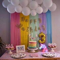 Amber Good added a photo of their purchase Party Unicorn, Unicorn Themed Birthday Party, Girl Birthday Themes, Rainbow Birthday Party, Unicorn Banner, Spongebob Birthday Party, My Little Pony Birthday Party, Rainbow Party Decorations, Birthday Party Decorations Diy