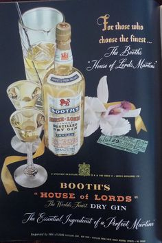 Booth's gin 1951