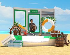 Ngenuity Event in Dubi Display Design, Set Design, Beach Games, Summer Campaign, Exhibition Booth Design, Ads Creative, Photo Corners, Ocean Themes, Art Direction