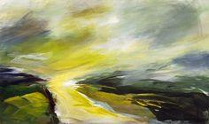 Ute Laum Kunst Landschaft: Hügel Abstraktes Moderne Expressionismus