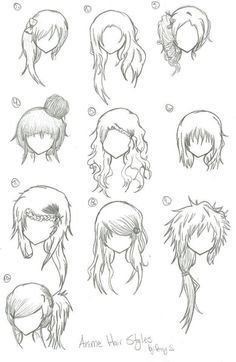 cool girls hairstyle adopt drawing - Google Search...