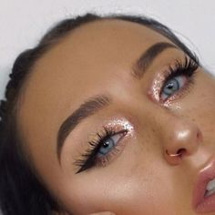 girl, eyeshadow, and glitter image