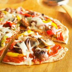 Make this quick and tasty Grilled Pizza for dinner tonight! Recipe: http://www.bhg.com/recipe/grilled-pizza/?socsrc=bhgpin060712