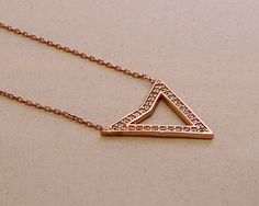 Triangle Necklace Sterling Silver Necklace Dainty Necklace