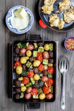 Italian Oven Roasted Vegetables | The Mediterranean Dish. Simple and delicious oven roasted vegetables, the Italian way! Not your average side dish! These veggies will be your new favorite! Comes together in 20 mins or so. See the recipe on TheMediterraneanDish.com