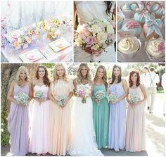 Weddings » Steflin Blog pastelweddings #watercolorweddings #pastelcoloredweddings #bridesmaidress
