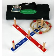 Traditional Garden Games Garden Quoits - Classic outdoor garden game comes in a canvas holdall. With 4 rope rings, sturdy quoit base x and screw-in scoring stakes. Another of our traditional Garden Party games. Giant Garden Games, Garden Party Games, Giant Games, Fun Party Games, Party Ideas, Gift Ideas, Outdoor Parties, Outdoor Games, Sports Day Games
