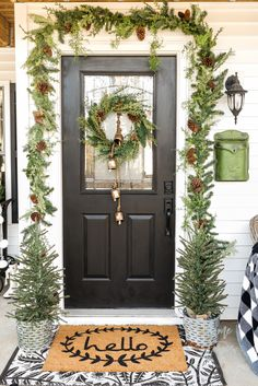 100 Christmas Front Porch Ideas In 2020 Christmas Front Porch Christmas Porch Christmas Decorations