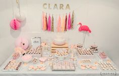 cha de bebe clara flamingo baby shower charlotte valade inspire 2000