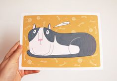 Fat cat  A5 Print by EricaSalcedo on Etsy, €8.00