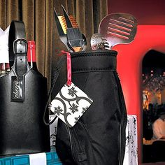 These grill and golf bbq tool sets are the perfect marriage of two great hobbies, golf and grilling. Makes the perfect golf-themed groomsmen gift or even a great birthday gift for any barbeque enthusiast.