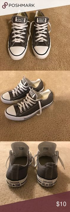 Men's converse Men's gray low cut converse. Worn 1x. Like new condition. Converse Shoes Sneakers