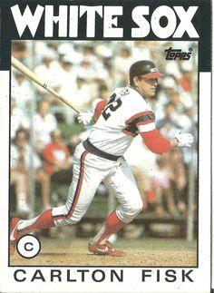 1984 Topps Carlton Fisk Baseball Cards Pinterest