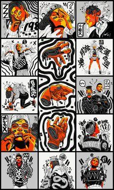 Kervin Brisseaux: How I went from DeviantArt to Design Director – Features – Miif Plus Illustration Design Graphique, Photo Illustration, Digital Illustration, Illustrations, Graphic Design Posters, Graphic Design Inspiration, Graphic Art, Graphic Design Trends, Grafik Design