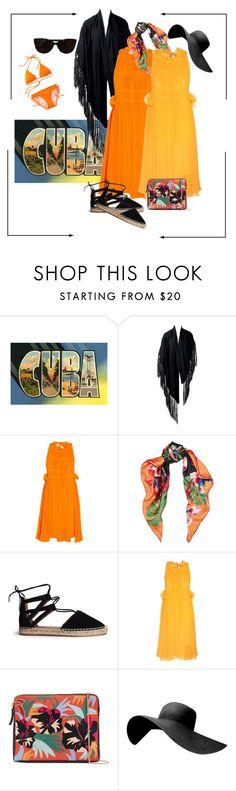 """cuba"" by pam-doel ❤ liked on Polyvore featuring Hermès, Sonia Rykiel, Valentino, Aquazzura, Lizzie Fortunato and Tiffany & Co."