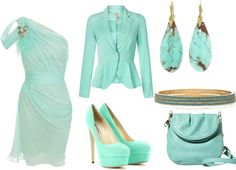 """""""New Years Eve Glam (in turquoise)"""" by frogchickk on Polyvore"""