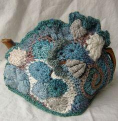 Freeform Crochet tea cozy Windy Beach by 2SistersStringworks, $60.00