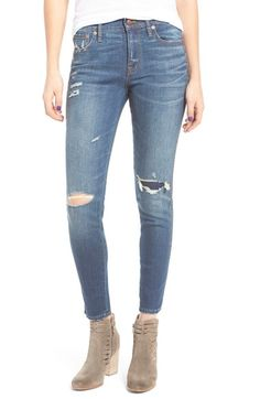 Main Image - Madewell High Rise Skinny Jeans: Ripped & Patched Edition (Marion)