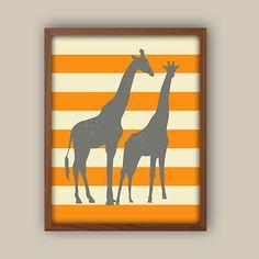 Baby Boy Nursery Decor  Giraffe Nursery Art  by iNKYSQUIDKIDS, $13.00