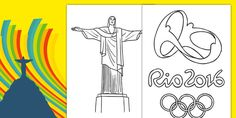 Rio Olympics 2016 Colouring Pages - rio olympics, 2016 olympics, rio 2016, colouring, pages, colour