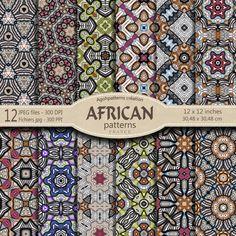 12 MOTIFS AFRICAINS grands format 3048 X 3048  par AGOHPATTERNS