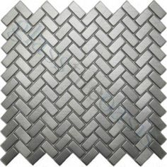 Herringbone Stainless Steel Herringbone Metal Brushed Tile