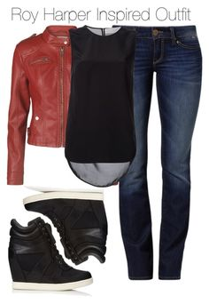 Arrow - Roy Harper Inspired Outfit by staystronng on Polyvore featuring polyvore fashion style Thakoon Addition Vero Moda Mavi Forever 21 leatherjacket Arrow sneakers royharper