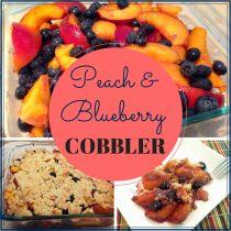 Peach and Blueberry Cobbler | Paleo Fitness Mama