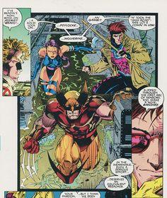 Psylocke, Gambit & Wolverine - Jim Lee