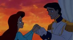 """""""You're the one!"""" #EricandAriel #TheLittleMermaid"""