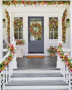  #BalsamHill #spring #flowers #springtime #springdecor #homedecor Outdoor Topiary, Outdoor Wreaths, Wreaths And Garlands, Flower Wreaths, Artificial Floral Arrangements, Artificial Flowers, Seasonal Flowers, Real Flowers, Window Box Flowers