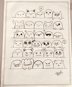 #keepdoodling! Made by Panthi Patel. Cute Doodle Art, Doodle Art Drawing, Doodle Icon, Kawaii Doodles, Cute Doodles, Cartoon Sketches, Art Sketches, Kawaii Drawings, Cute Drawings