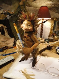 *Piece from a Demonstration at Animated Exeter by Wendy Froud Forest Creatures, Woodland Creatures, Magical Creatures, Fantasy Creatures, Trolls, Dragons, Brian Froud, Kobold, Elves And Fairies