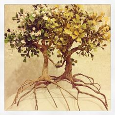 ©coconutmouse Model trees I made for the top of the Herbert wedding cake - just grass etc. to add...