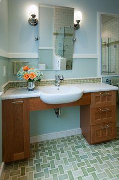 Kingston Brass Imperial Vintage Inch Wallmount Pedestal Inch - Handicap bathroom sink cabinets