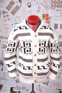Big Lebowski The Dude cardigan Cowichan Style by CampKitschyKnits, $139.00