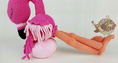 szydełkowy flaming, crochet flamingo, crochet, szydełkowanie, Szkoła Szydełkowania, amigurumi