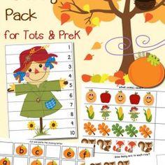 FREE Fall Printable Pack for Preschoolers