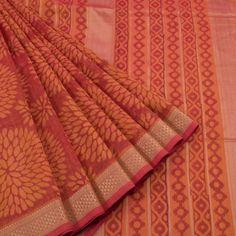 Khoj Hand Block Printed Maheshwari Silk Saree 10006559 - creative - AVISHYA.COM