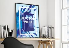 Dr Who Tardis Characters Giant Poster Art Print A0 A1 A2 A3 A4 Sizes
