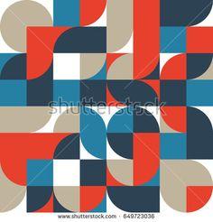 Abstract retro vintage geometric shape pattern background, vector illustration