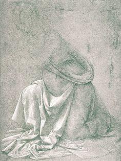 Da Vinci – Study of the lower side of a dress