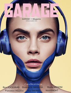 The spring-summer 2015 issue from Garage Magazine taps five top models for its covers photographed by Phil Poynter. Lara Stone, Kendall Jenner, Binx Walton, Cara Delevingne and Joan Smalls all look tech chic as they wear earphones with cool, futuristic accessories or accents.